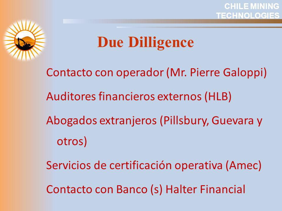 CHILE MINING TECHNOLOGIES. Due Dilligence.