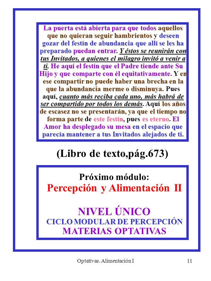 Percepción y Alimentación II CICLO MODULAR DE PERCEPCIÓN