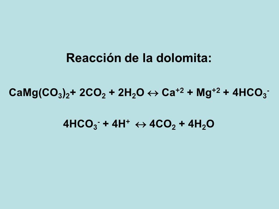Reacción de la dolomita: