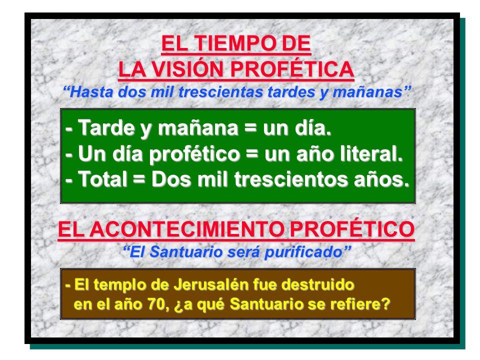 EL TIEMPO DE LA VISIÓN PROFÉTICA EL ACONTECIMIENTO PROFÉTICO