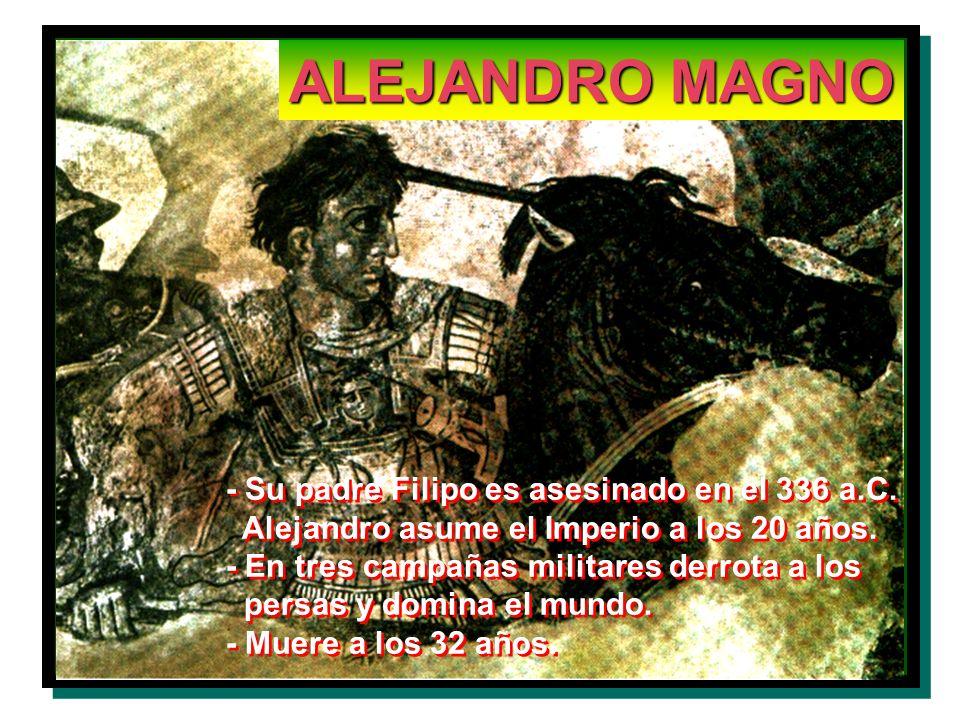 ALEJANDRO MAGNO - Su padre Filipo es asesinado en el 336 a.C.