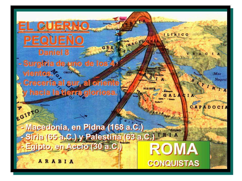 ROMA EL CUERNO PEQUEÑO Daniel 8 - Surgiría de uno de los 4 vientos.