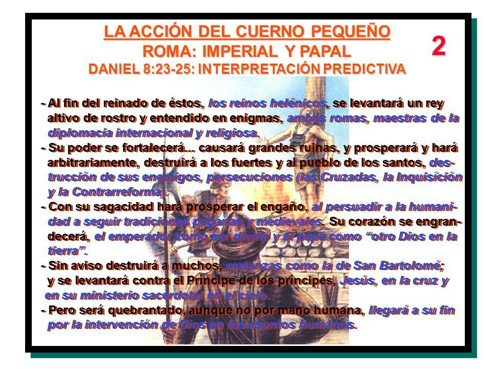 LA ACCIÓN DEL CUERNO PEQUEÑO DANIEL 8:23-25: INTERPRETACIÓN PREDICTIVA