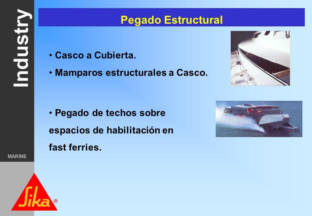 Pegado Estructural Casco a Cubierta. Mamparos estructurales a Casco.
