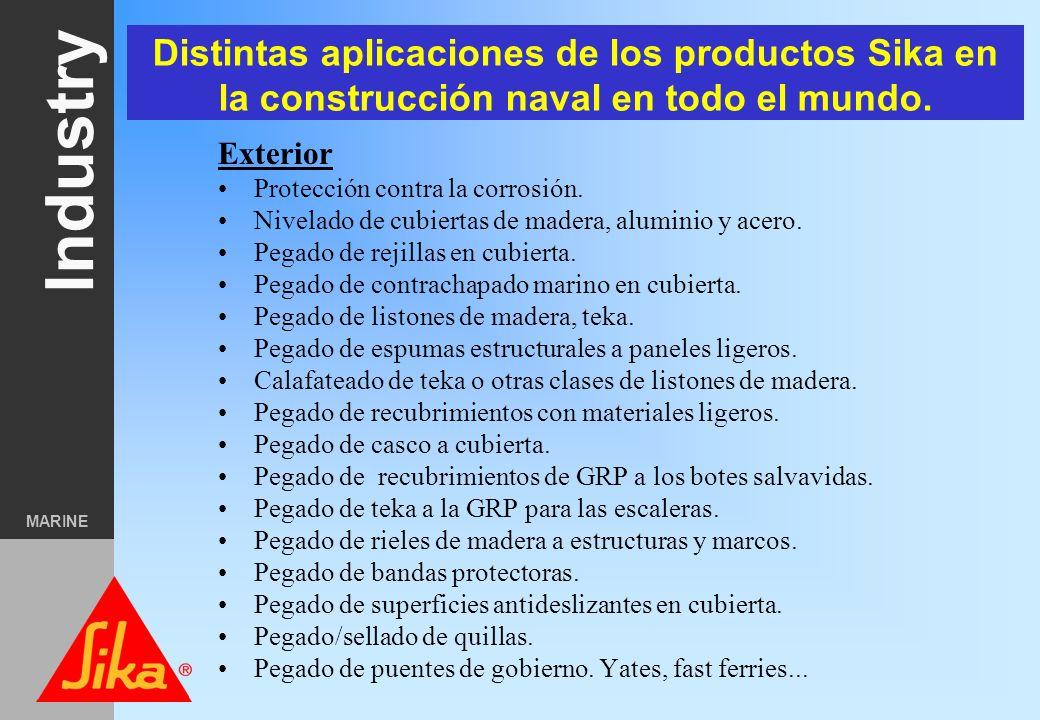 Distintas aplicaciones de los productos Sika en la construcción naval en todo el mundo.