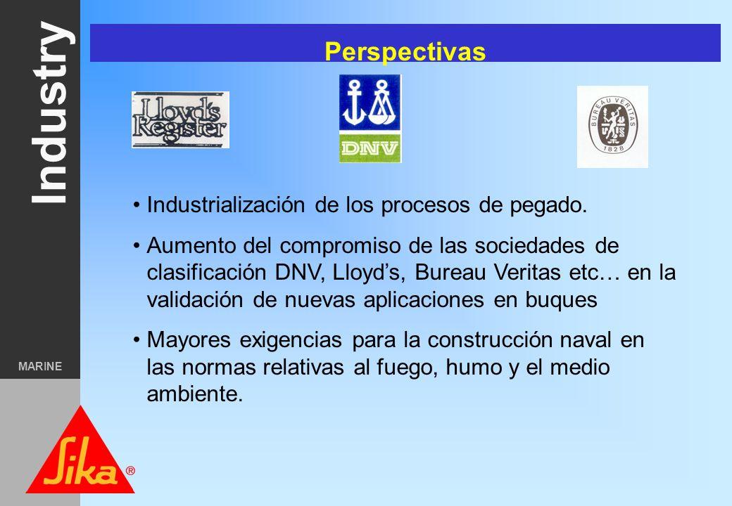Perspectivas Industrialización de los procesos de pegado.