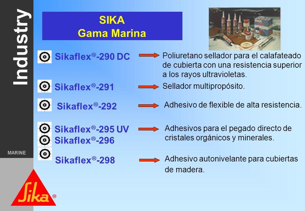 SIKA Gama Marina Sikaflex-290 DC Sikaflex-291 Sikaflex-292