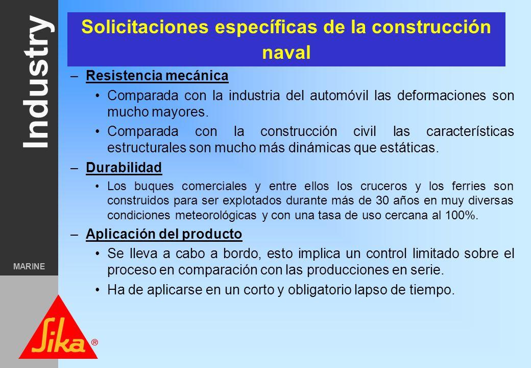 Solicitaciones específicas de la construcción naval