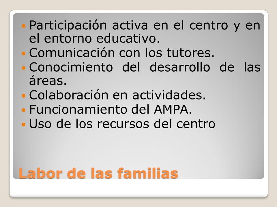 Participación activa en el centro y en el entorno educativo.