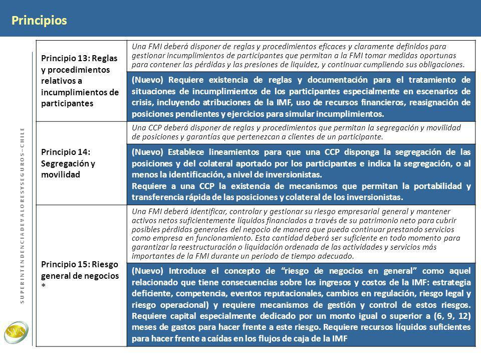 PrincipiosPrincipio 13: Reglas y procedimientos relativos a incumplimientos de participantes.