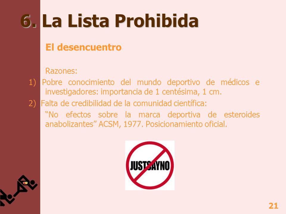 6. La Lista Prohibida El desencuentro Razones: