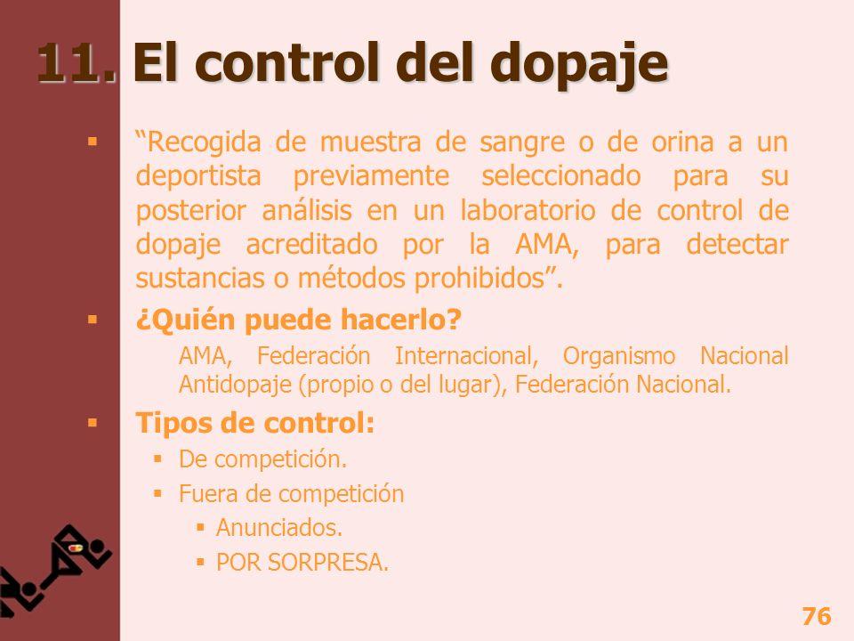 11. El control del dopaje