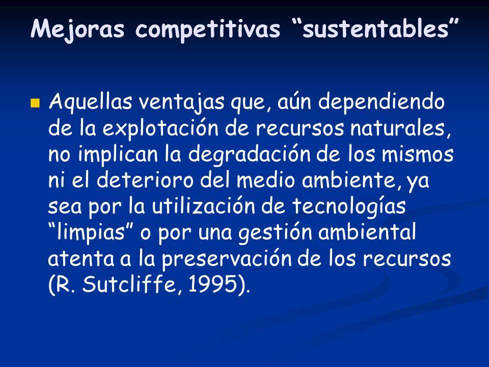 Mejoras competitivas sustentables