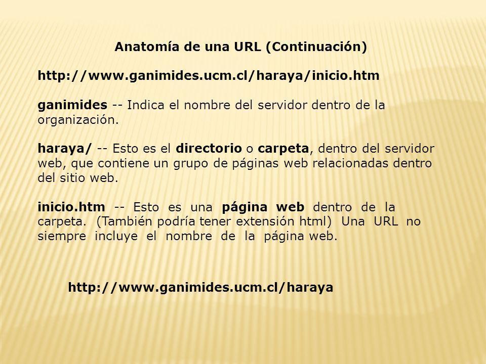 Anatomía de una URL (Continuación)