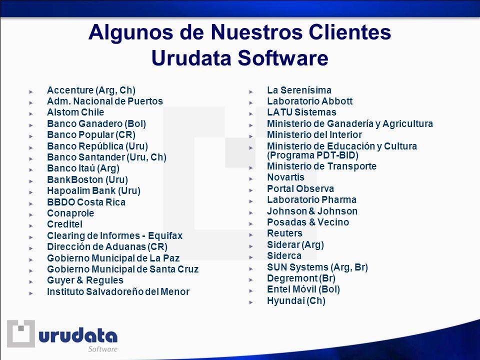 Algunos de Nuestros Clientes Urudata Software