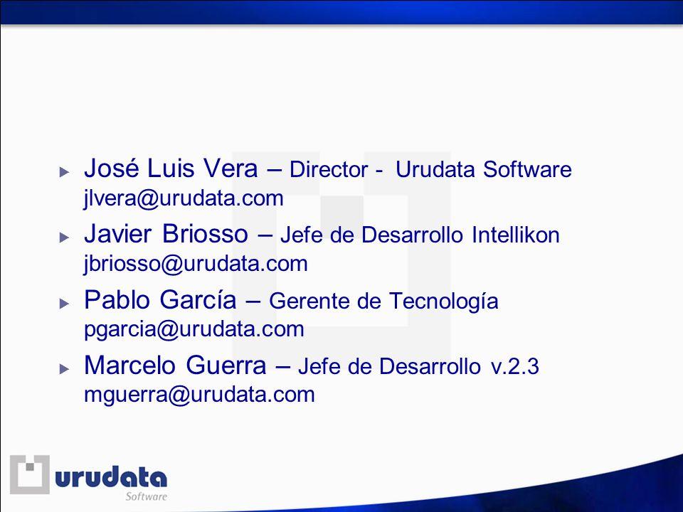 José Luis Vera – Director - Urudata Software jlvera@urudata.com