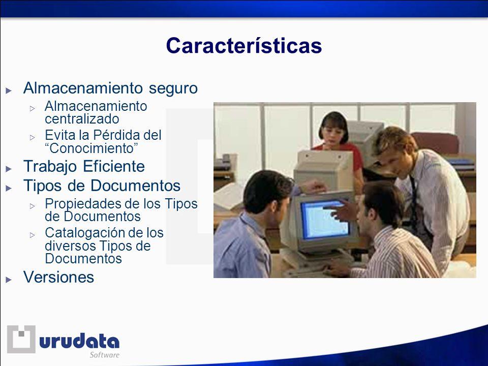 Características Almacenamiento seguro Trabajo Eficiente
