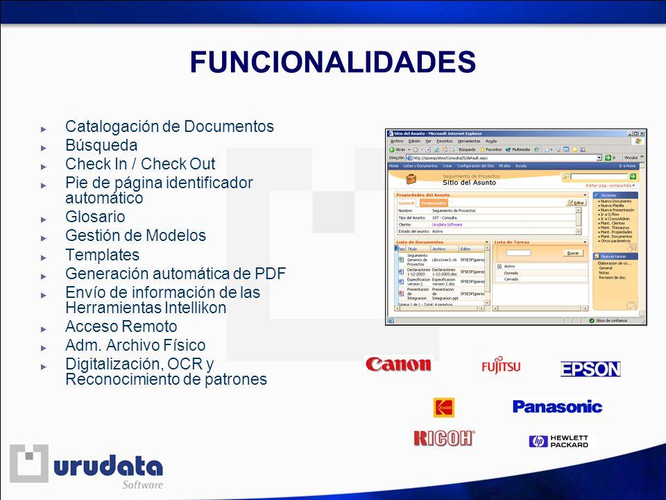 FUNCIONALIDADES Catalogación de Documentos Búsqueda