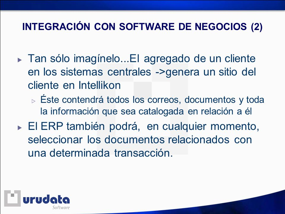 INTEGRACIÓN CON SOFTWARE DE NEGOCIOS (2)