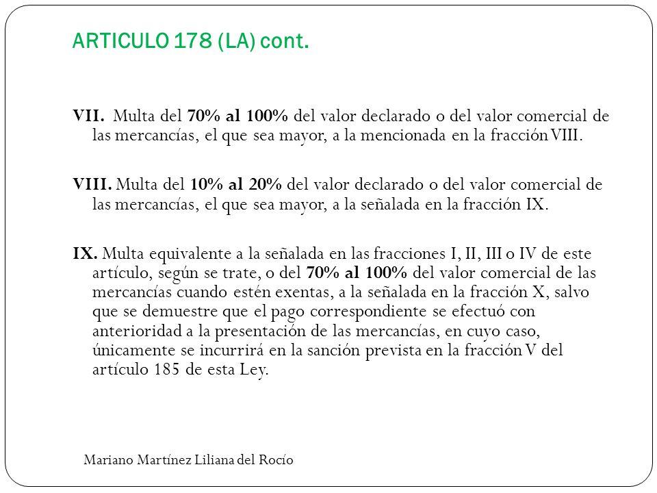 ARTICULO 178 (LA) cont.