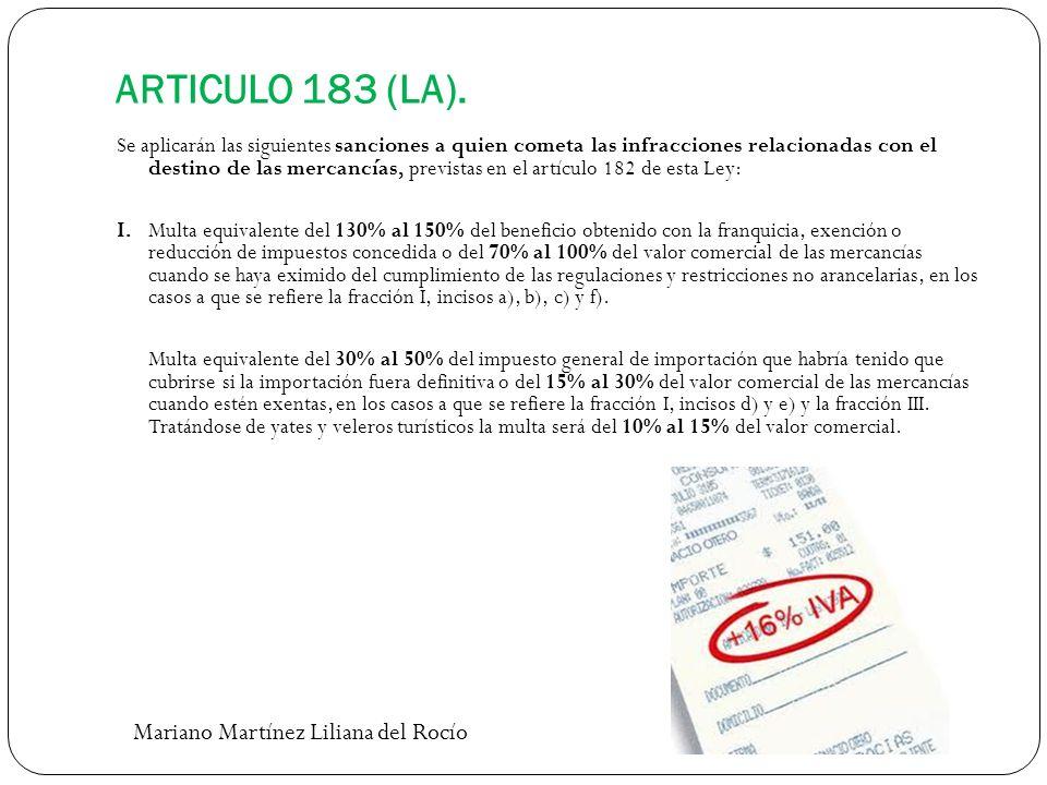 ARTICULO 183 (LA). Mariano Martínez Liliana del Rocío