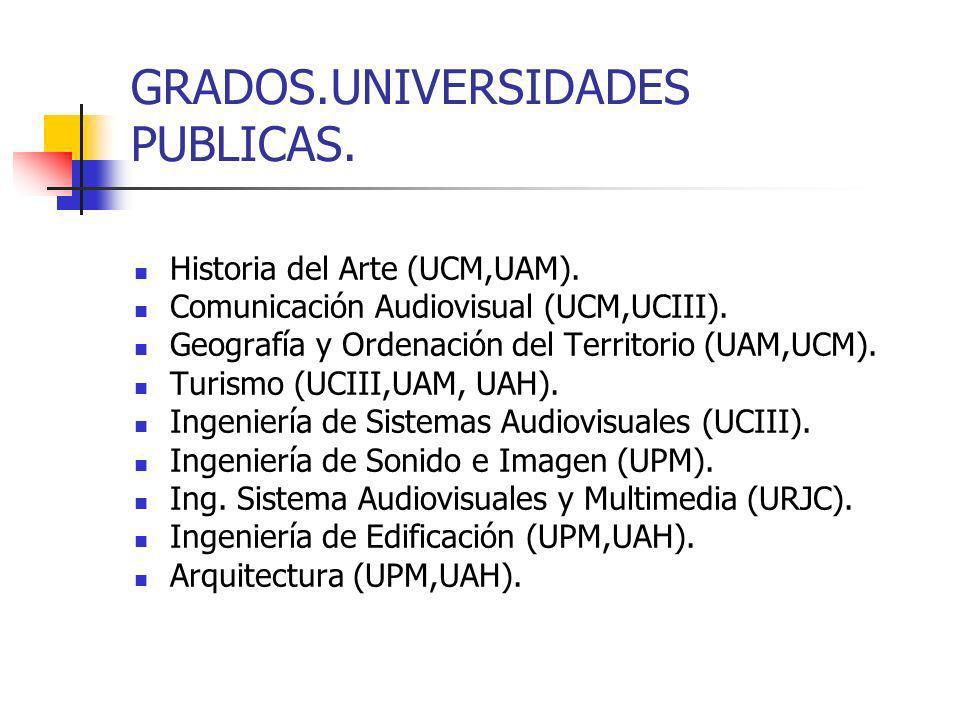 GRADOS.UNIVERSIDADES PUBLICAS.