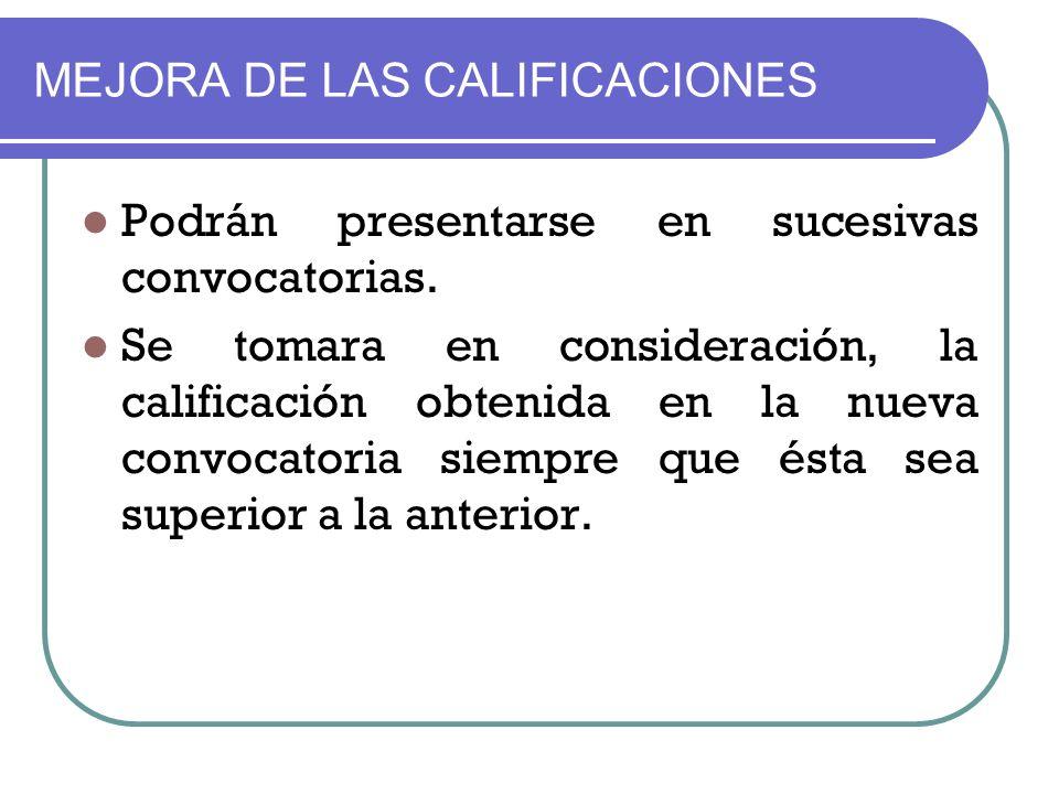 MEJORA DE LAS CALIFICACIONES