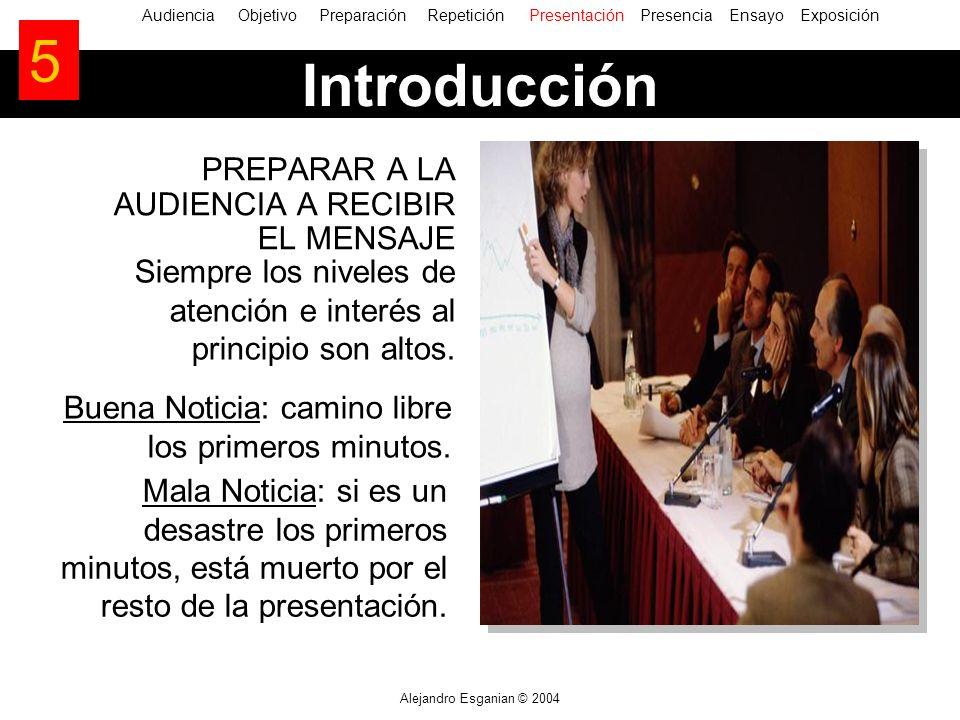 5 Introducción PREPARAR A LA AUDIENCIA A RECIBIR EL MENSAJE