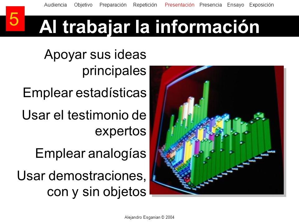 Al trabajar la información
