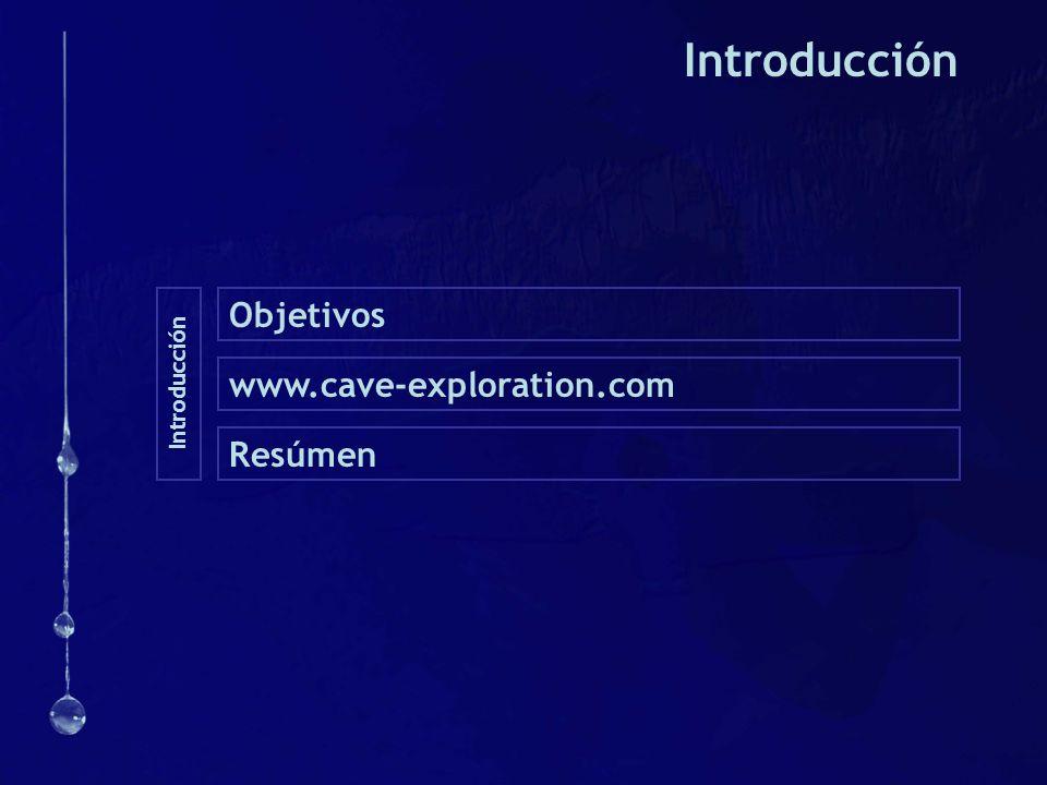 Introducción Objetivos Introducción www.cave-exploration.com Resúmen