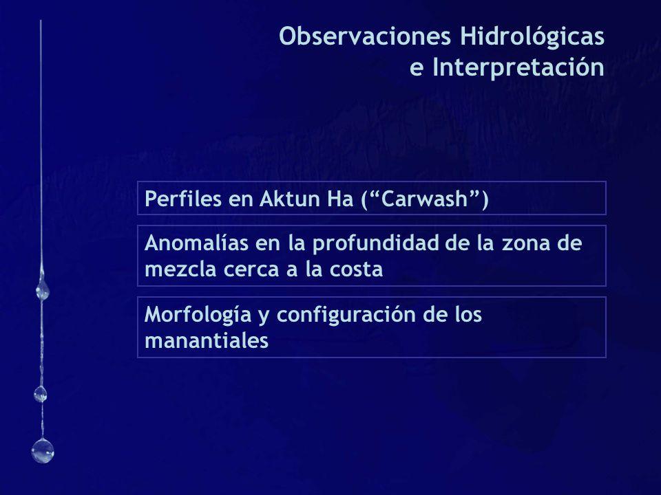 Observaciones Hidrológicas e Interpretación