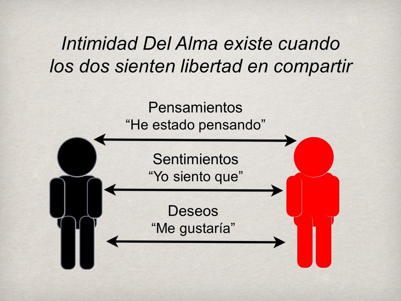 Intimidad Del Alma existe cuando los dos sienten libertad en compartir