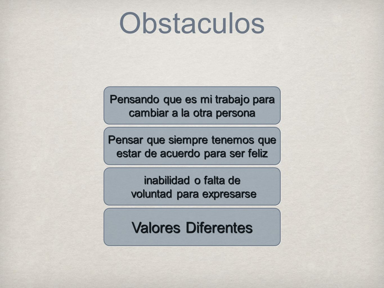 Obstaculos Valores Diferentes