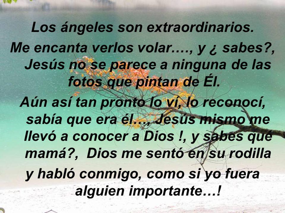 Los ángeles son extraordinarios.