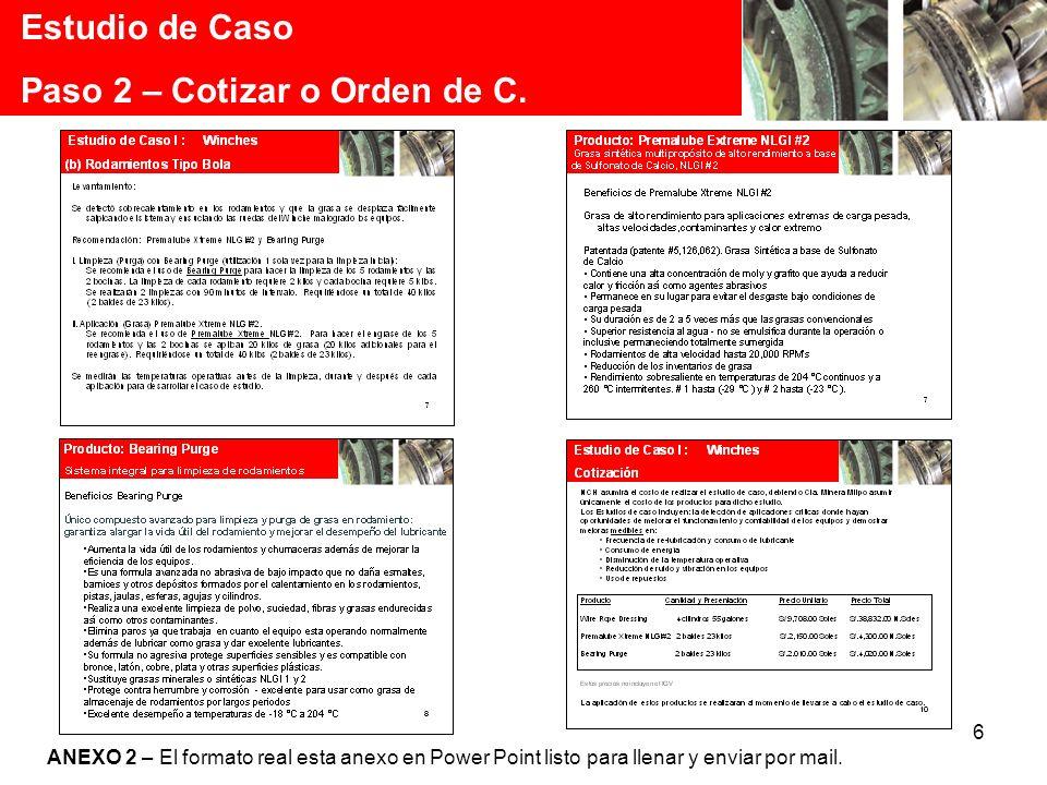 Paso 2 – Cotizar o Orden de C.