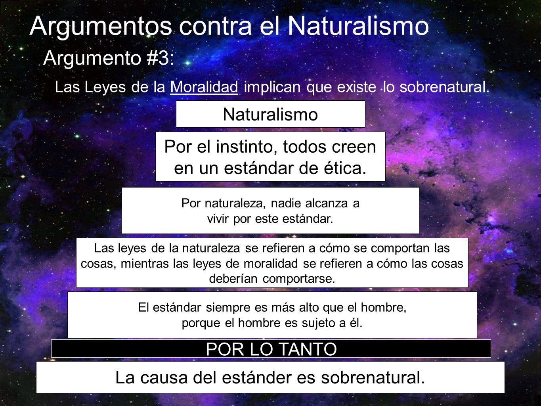 Argumentos contra el Naturalismo