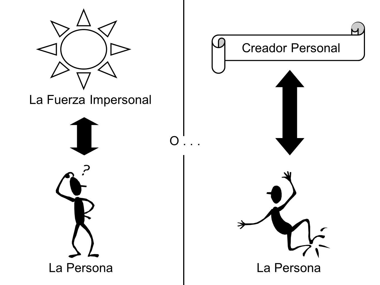 Creador Personal La Fuerza Impersonal O . . . La Persona La Persona