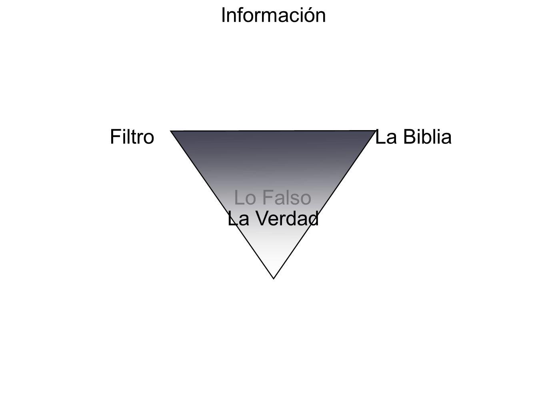 Información Filtro La Biblia Lo Falso La Verdad