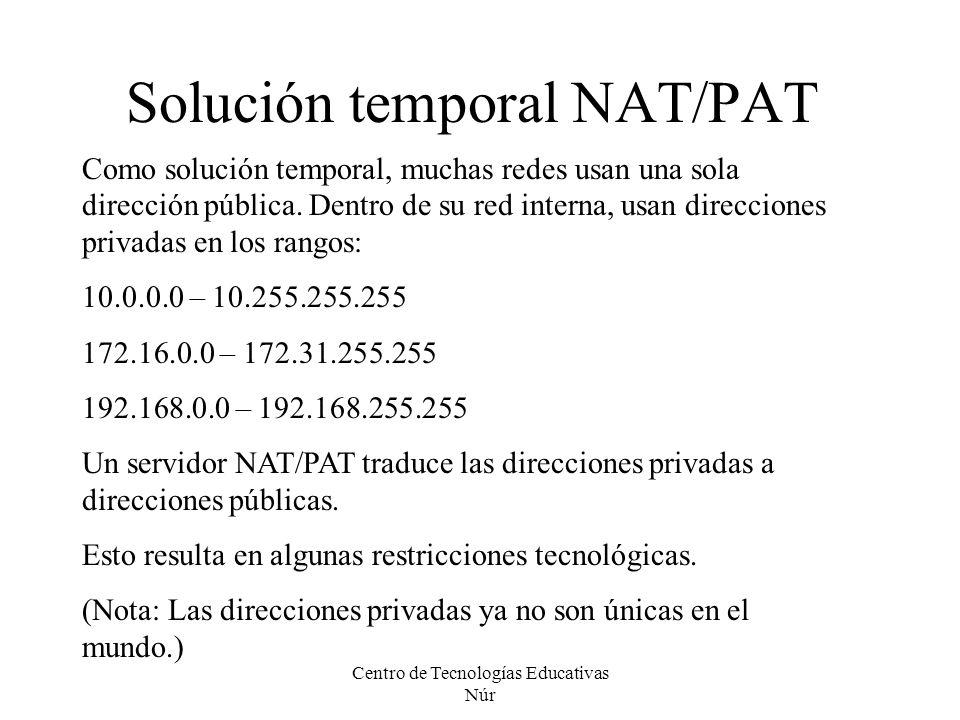 Solución temporal NAT/PAT