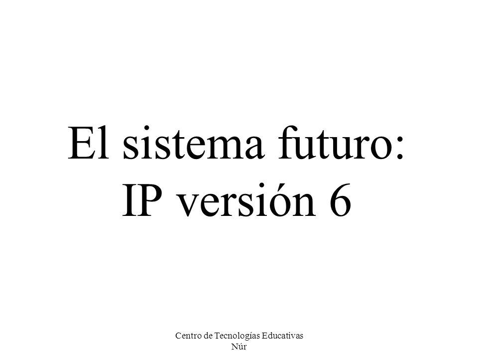El sistema futuro: IP versión 6