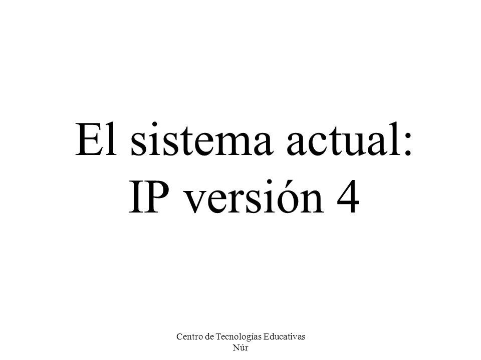 El sistema actual: IP versión 4