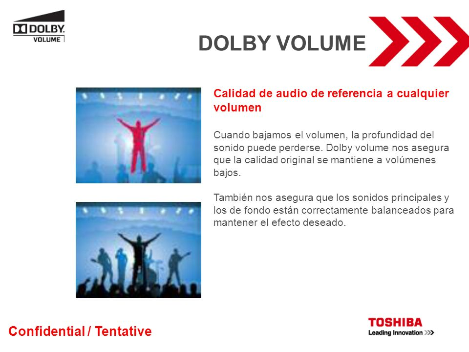 DOLBY VOLUME Confidential / Tentative