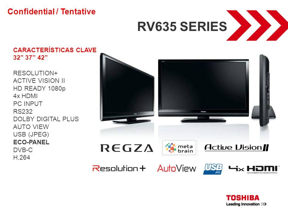RV635 SERIES Confidential / Tentative CARACTERÍSTICAS CLAVE