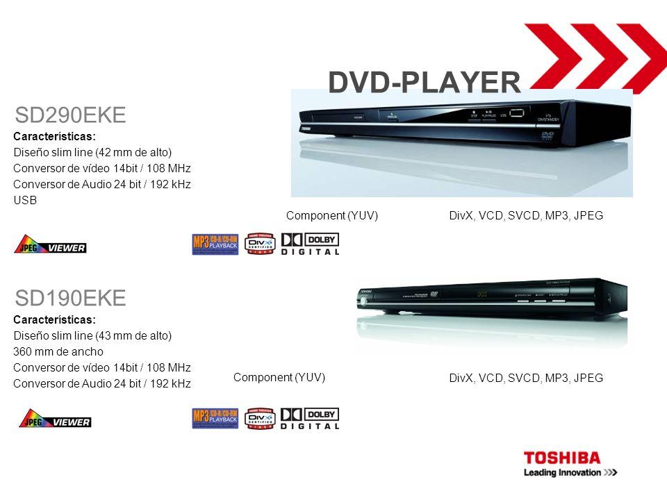 DVD-PLAYER SD290EKE SD190EKE Características: