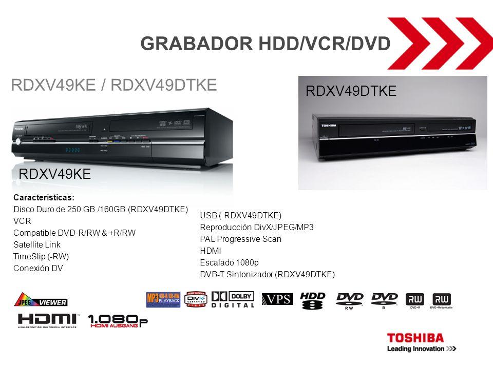 GRABADOR HDD/VCR/DVD RDXV49KE / RDXV49DTKE RDXV49DTKE RDXV49KE