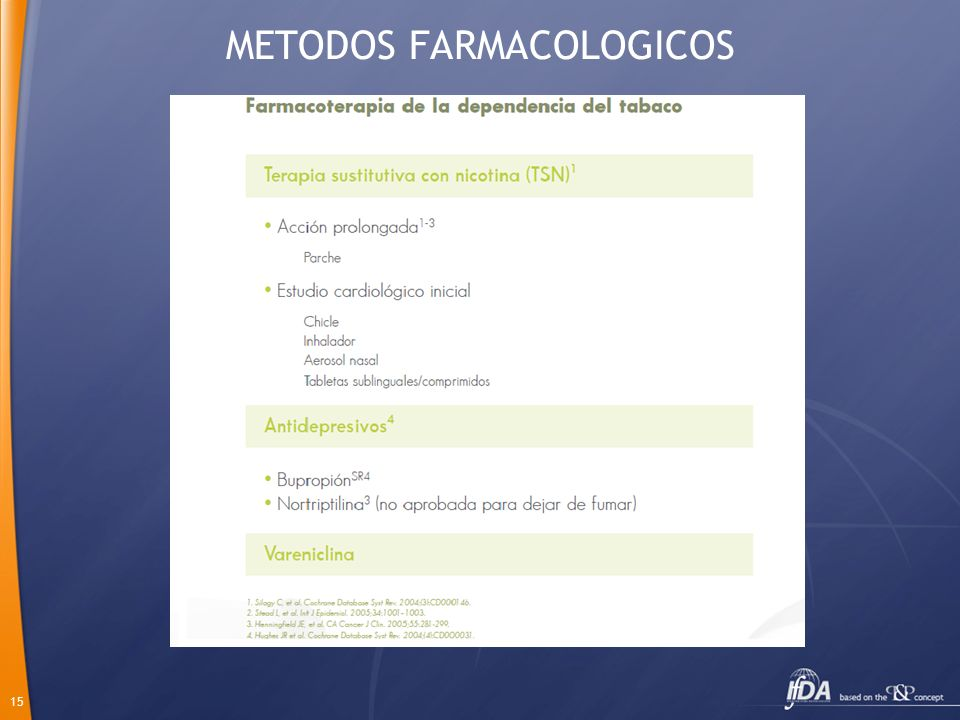 METODOS FARMACOLOGICOS