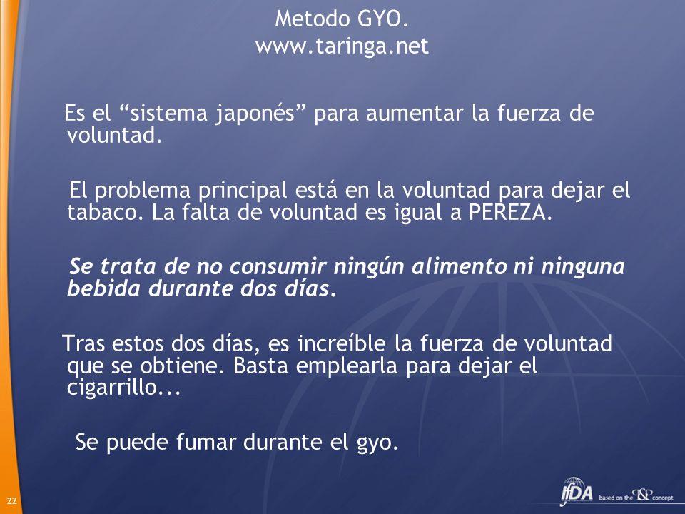 Metodo GYO. www.taringa.net