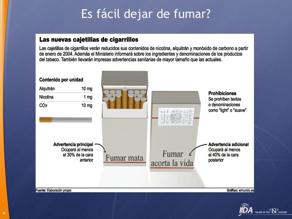 Es fácil dejar de fumar