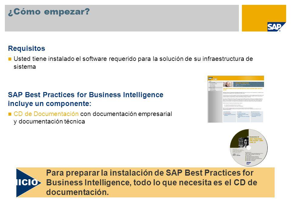¿Cómo empezar Requisitos. Usted tiene instalado el software requerido para la solución de su infraestructura de sistema.