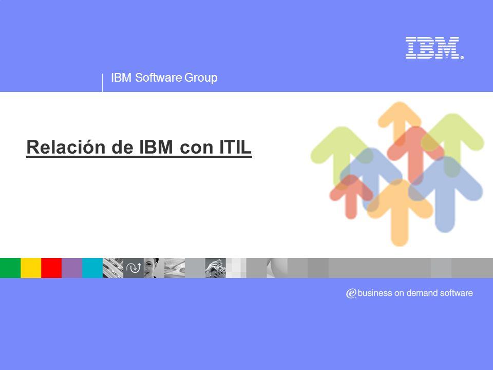 Relación de IBM con ITIL